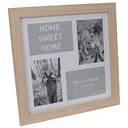 Koopman Fotorámček na 4 fotografie Lamego svetlohnedá, 37 x 37 cm