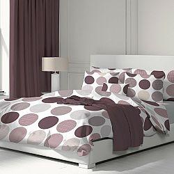 Kvalitex Bavlnené obliečky Ava fialová, 220 x 200 cm, 2 ks 70 x 90 cm