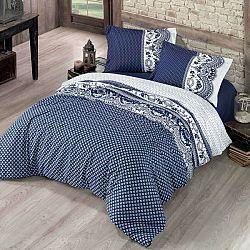 Kvalitex Bavlnené obliečky Canzone modrá, 240 x 200 cm, 2 ks 70 x 90 cm