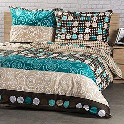 Kvalitex Bavlnené obliečky Circles, 140 x 220 cm, 70 x 90 cm
