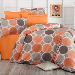 Kvalitex Bavlnené obliečky Delux Targets oranžová, 140 x 220 cm, 70 x 90 cm