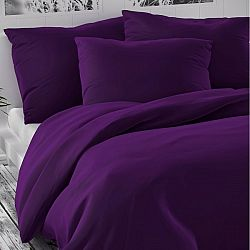 Kvalitex Saténové obliečky Luxury Collection tmavo fialová, 220 x 200 cm, 2 ks 70 x 90 cm