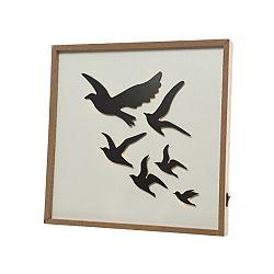 LED obraz Birds, 30 x 30 cm