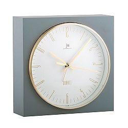 Lowell JA7070G Stolné hodiny s funkciou budíka 16 x 16 cm