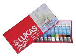 LUKAS Aquarelové farby STUDIO 12x10 ml, papierová krabica - sada - 120 ml