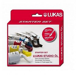 LUKAS Olejové farby STUDIO 6 x 20ml - súprava - 120 ml