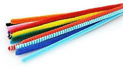 MEYCO Plyšové drôty 8mm x 50 cm  10ks - Mix 5 farieb