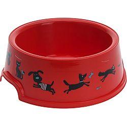 Miska pre domácich miláčikov Cane, červená, pr. 16,5 cm