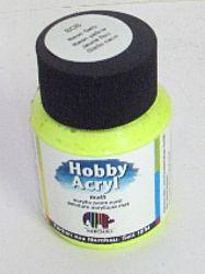 Nerchau Hobby Akryl matt neon - neónová akrylová farba  - neónovo žltá 362808 - 59 ml