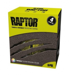 RAPTOR Raptor -  farebný tvrdý ochranný náter  - SET - RAL 7001 - striebrošedá - 0,95 L