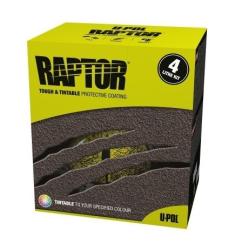 RAPTOR Raptor -  farebný tvrdý ochranný náter  - SET - RAL 7032 - šedá stierková - 0,95 L