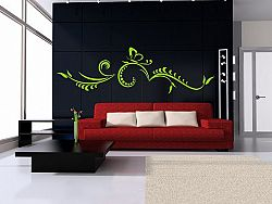 Šablóny na stenu Šablona na stenu - Ornament a motýľ - 3051x - 60x200cm