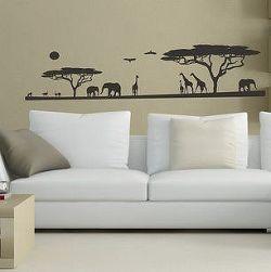 Šablóny na stenu Šablóna na stenu - Safari - 3072x - 22x95cm