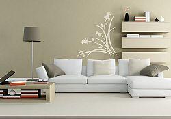 Šablóny na stenu Šablona na stenu - Tráva kvet - 3039x - 60x54cm