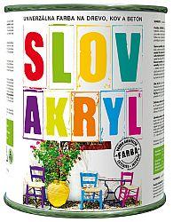 SLOVLAK Slovakryl - univerzálna vodouriediteľná farba - 0110 - svetlo šedý - 5 kg