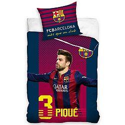 Tip Trade Bavlnené obliečky FC Barcelona Pique, 160 x 200 cm, 70 x 80 cm