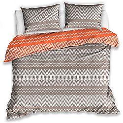 TipTrade Bavlnené obliečky Railing oranžová, 140 x 200 cm, 70 x 90 cm