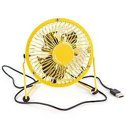 USB vetrák žltá, 13,5 x 11 x 15 cm