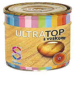 Chromos-Svjetlost Ultratop - lesklá hrubovrstvová lazúra s voskom - orech svetlý - 2,5 L