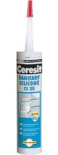 HENKEL Tmel Ceresit CS 25 - sanitárny silikón - 1 - biela - 280 ml