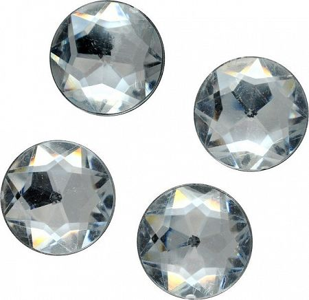 MEYCO Akrylové diamanty kryštálové   - 60ks - 12mm