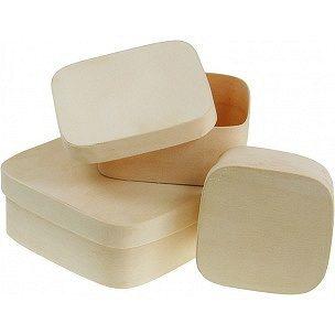 MEYCO Štvorcový box z preglejky  - 10,5 x 10,5cm / V 4,5cm