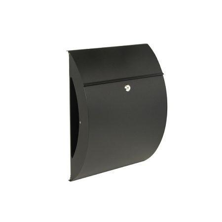 Richter Poštová oceľová schránka Bilbao, čierna